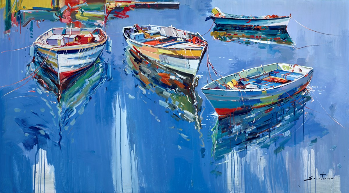 Harbour Life III by santana -  sized 57x32 inches. Available from Whitewall Galleries